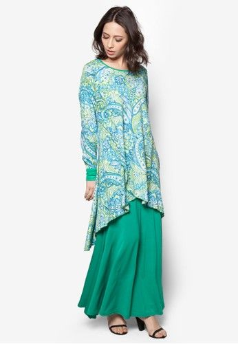 Paisley Fishtale Kurung from Aqeela Muslimah Wear in Green Inspired by the elegance of mermaids, Aqeela Muslimah Wear channels a sense of modesty with a hefty dash of modern aesthetics into this gorgeous creation. Tailored with a mermaid construction that simply ooze with effortless sophistication, y... #bajukurung #bajukurungmoden
