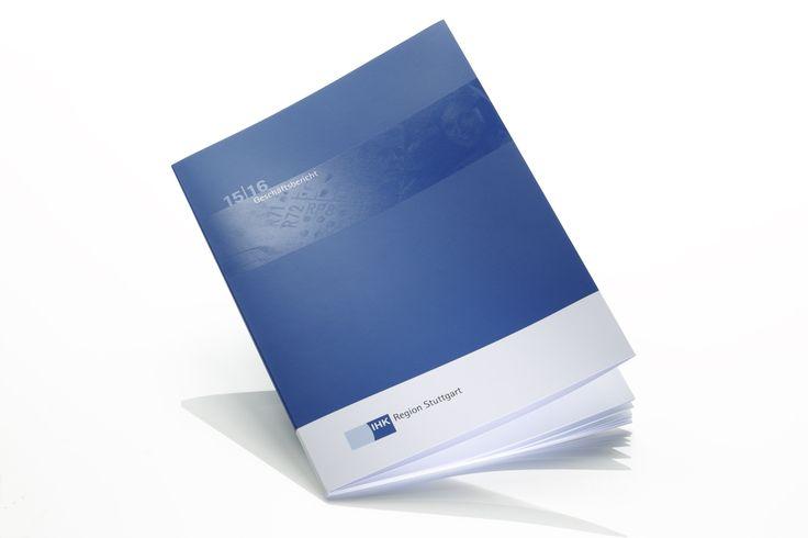 IHK REGION STUTTGART // Business Report – printed on heaven 42 soft matt absolute white, 135 + 300 gsm.