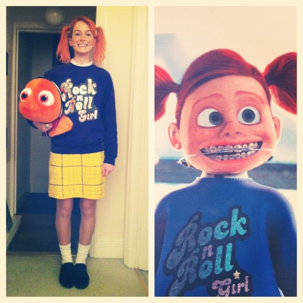 Darla finding nemo fancy dress costume!