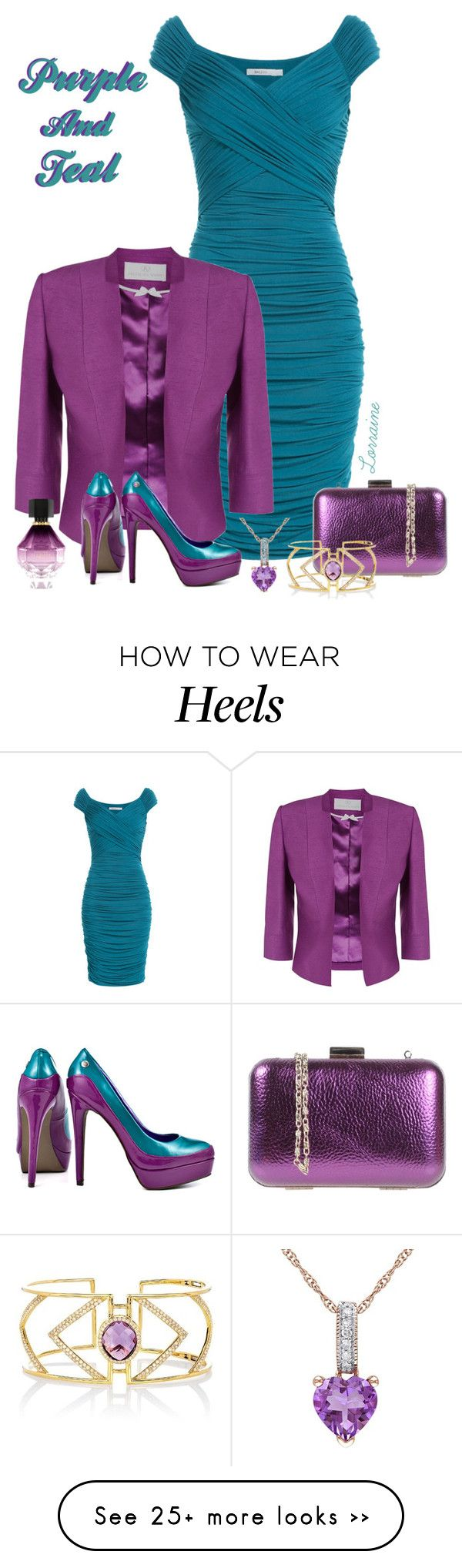 """""""Purple and Teal"""" by lorrainekeenan on Polyvore featuring Bailey 44, Jacques Vert, Silvian Heach, Blink, Effy Jewelry and Victoria's Secret"""