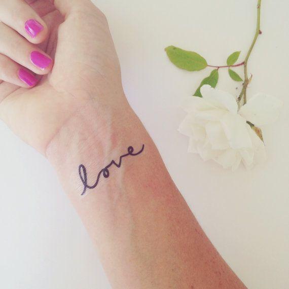 Temporary tattoo love tattoo wedding tattoo fun by DAYDREAMPRINTS, $25.00