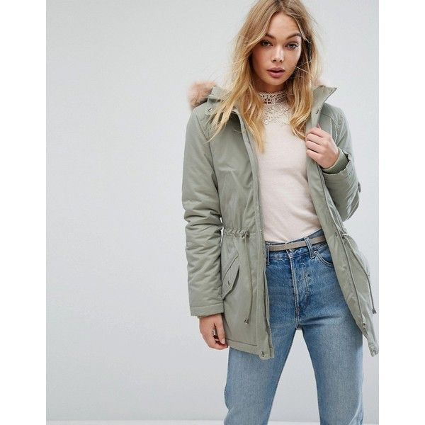 Oasis Faux Fur Hooded Parka Coat (159 CAD) ❤ liked on Polyvore featuring outerwear, coats, green, hooded parka, oasis coats, green parka coat, hooded parka coat and faux fur trim hooded coat