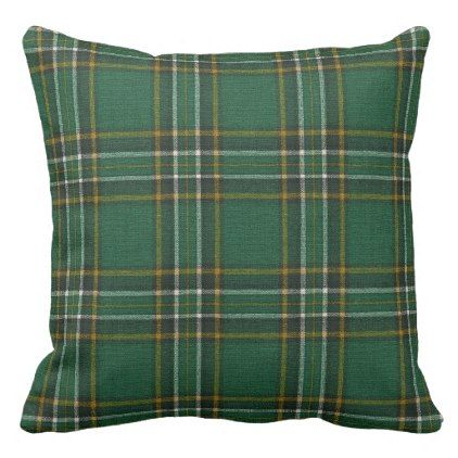 Irish National Original Tartan Square Throw Pillow - decor gifts diy home & living cyo giftidea