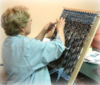 alfombra en telar