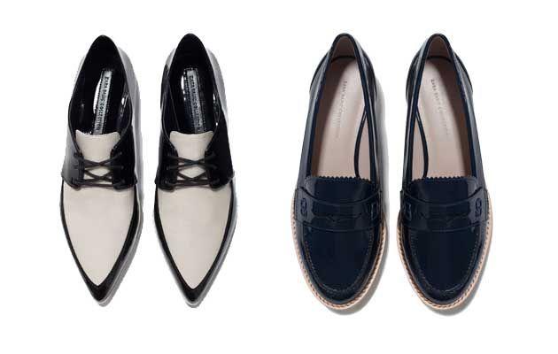 Los zapatos planos también se llevan en la oficina. #tendencias #zapatos #primavera
