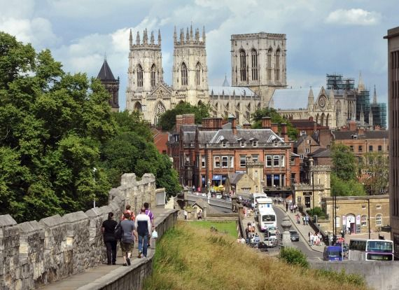 YORK, UK: Mostly medieval and Georgian architecture collide in this well preserved, agreeably small, easily walked city, ...
