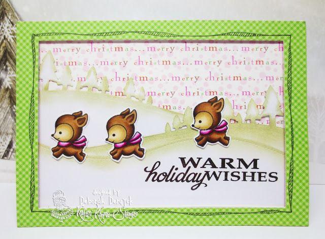 Deborah's shining cards: Wonderful Wednesday: Warm Holiday Wishes