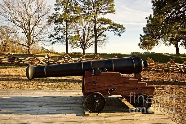 A Siege Cannon in Yorktown by Rachel Morrison - A siege Cannon (18-pounder) at Yorktown Battlefield in Yorktown, Virginia. #virginia #yorktown #cannon #military #americanhistory #history #photography #decor #interior #print