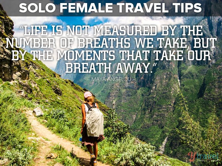 Visit this blog post for 'Female Solo Travel Tips' - Learn how to travel safe as a solo female traveler.