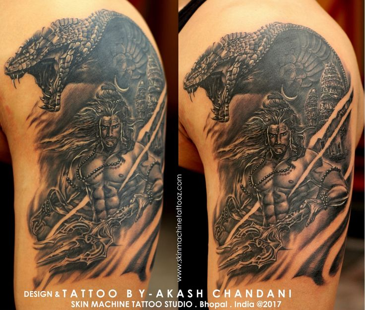 Watch in HD!!  So here is a next level piece of Lord Shiva series by Akash Chandani  This is the original design done with the help of Digital art and freehand skills, 12 hours of Long session and we ended up with this masterpiece. Truly my best Lord Shiva piece till date! I appreciated your reviews on this.☺️  Pictures coming soon! Email for appointments - skinmachineteam@gmail.com www.skinmachinetattooz.com