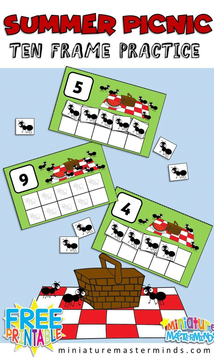 Ants At The Picnic Preschool 10 Frame Counting Activity Counting Activities Preschool Insects Preschool Preschool Activities [ 1226 x 736 Pixel ]