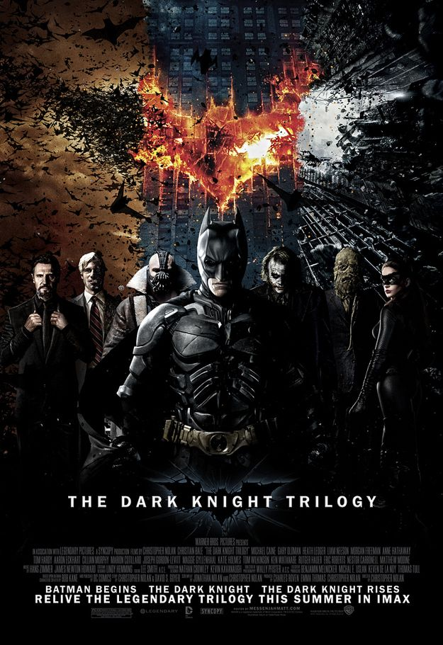 The Dark Knight Trilogy Movie Poster. thedarkknight batman movie poster