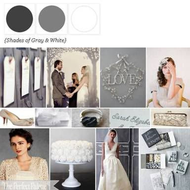 Shades of Gray + White via The Perfect Palette. xo