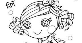 Lalaloopsy para colorir. Munecas Lalaloopsy. Lalaloopsy Dolls.Free coloring page.