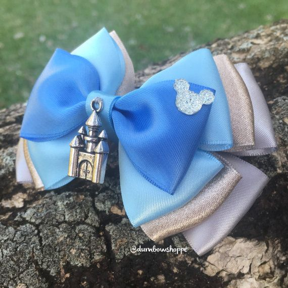 Cinderella Castle Hair Bow with Alligator Clip by DumbowShoppe