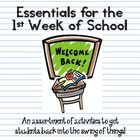 BACK TO SCHOOL ESSENTIALS: Activities for the 1st Day/Week of School