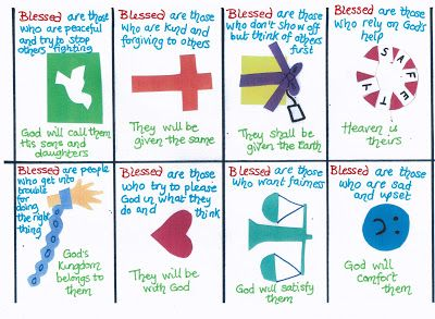 Flame: Creative Children's Ministry: Beatitudes cards (explaining the Beatitudes in child friendly language!)