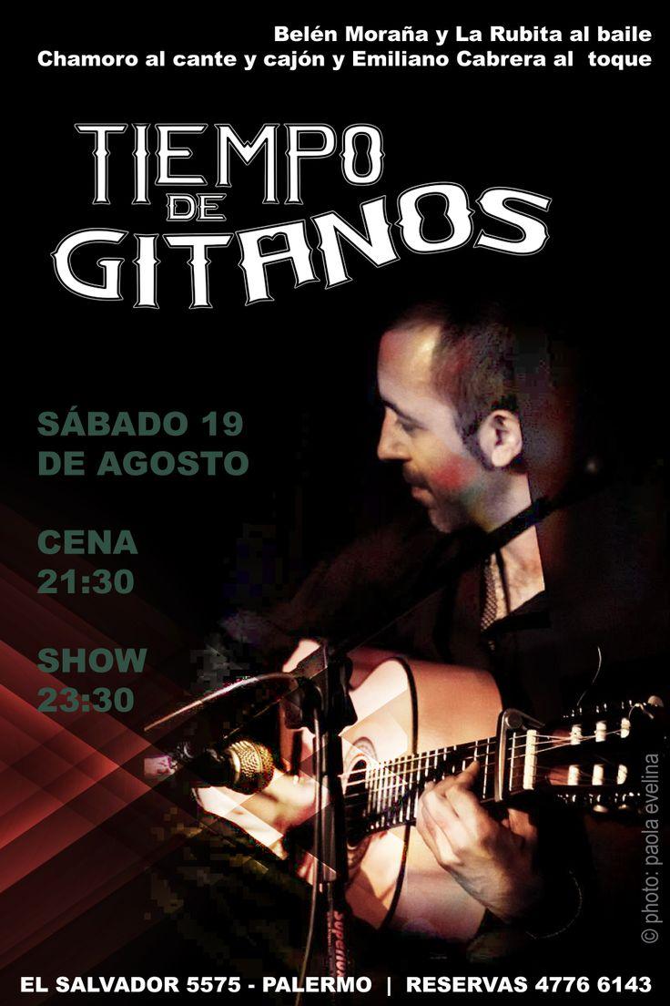 Sábado 19 de Agosto Cena 21:30 hs - Show 23:30 hs