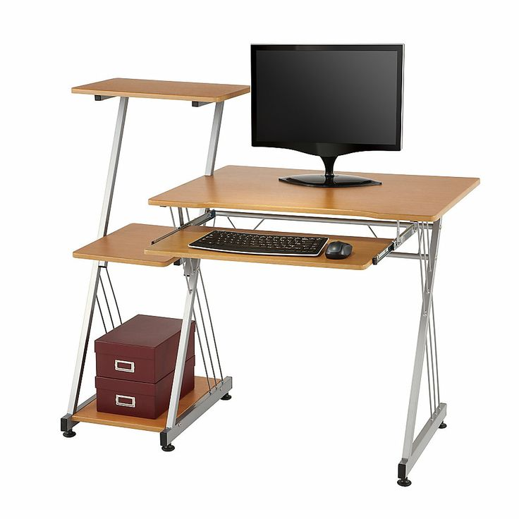 Limble Ii Computer Desk 39 38 H X 46 W X 21 12 D Birch By