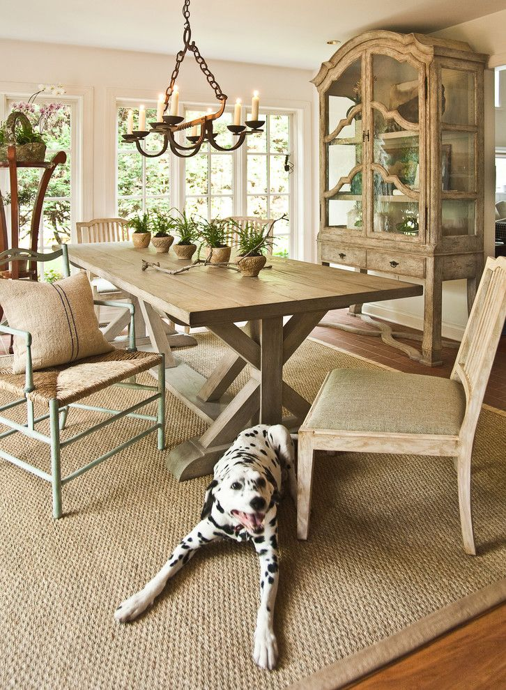 Appealing Trestle Table Restoration Hardware Image Decor In Dining Room Traditional Design Ideas With Area