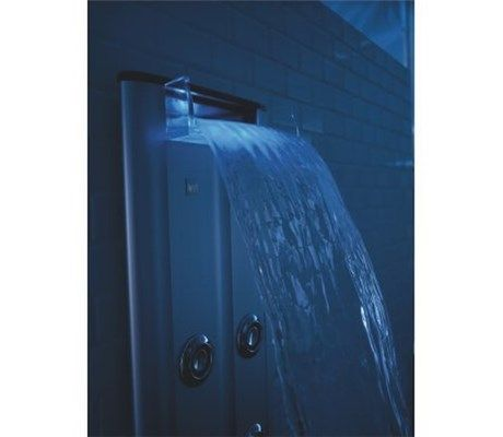 Kohler K1000 H2 Cp Waterfall Shower Head With Jet Stack