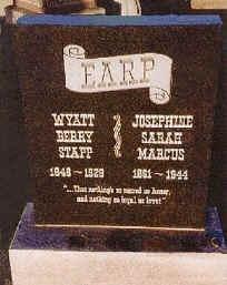 Final Resting Place of Wyatt Earp-Hills of Eternity Cemetery, Colma, CA