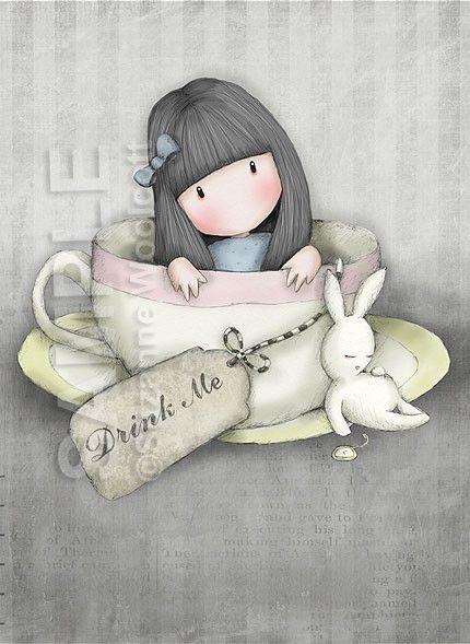 The Sweet Tea   8 x 10 Giclee Fine Art Print  Gorjuss by gorjuss, $18.00
