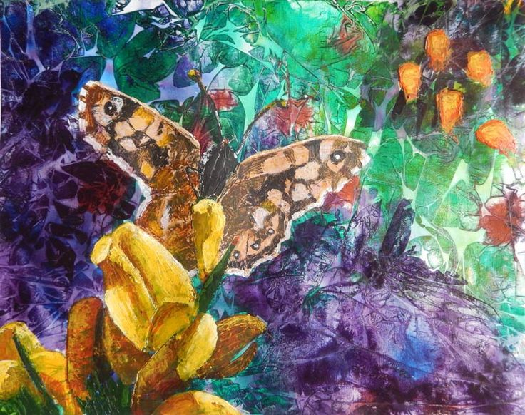 Speckled Wood butterfly on Gorse | 24Steps Art and Design