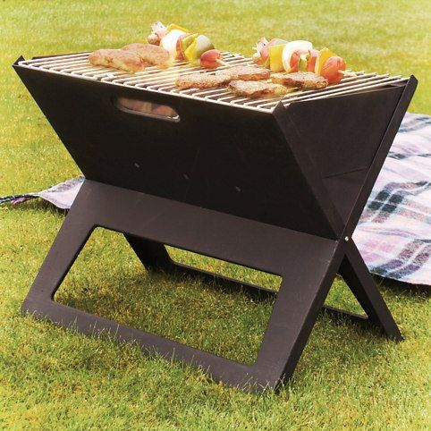Portable Notebook BBQ Grill. GENIUS!!!!!!!!