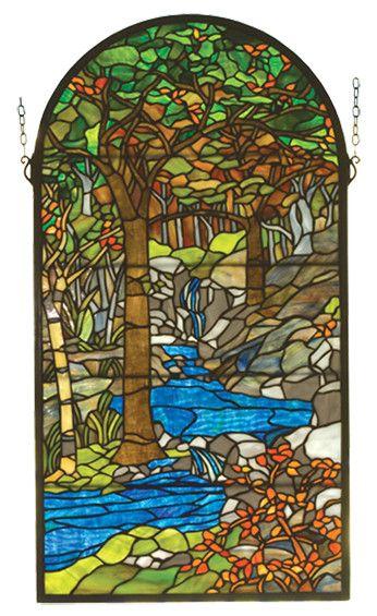 Victorian Tiffany Waterbrooks Stained Glass Window | Wayfair