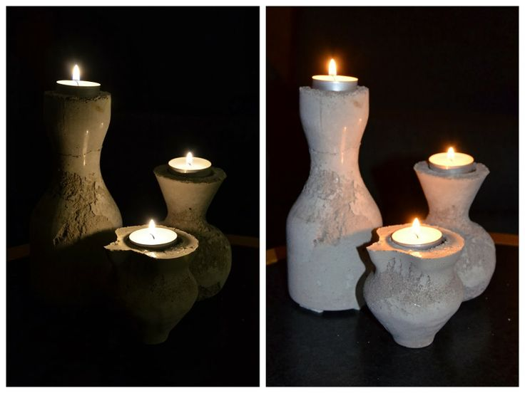 Made by jehul: concrete made in vases