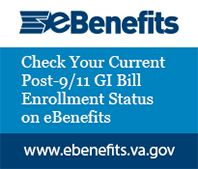 Check your Current Post-9/11 GI Bill Enrollment Status on eBenefits