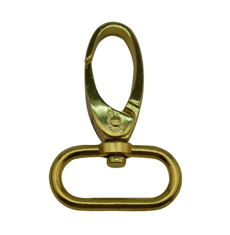 Tianbang Golden 1' Inside Dia Oval Ring Olive Lobster Clasp Claw Swivel Eye Hole for Strap Pack of 6 -- You can find more details by visiting the image link.