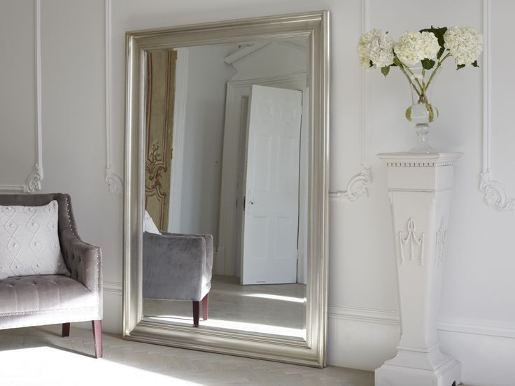 A decadent oversized mirror, the Vermont is a beautiful addition to our statement mirror collection. The modern feel of this sleek, silver patina finish is particularly elegant. The bevelled glass adds depth and style and the mirror looks beautiful when leaned against a wall to complement bedroom furniture or to style a hallway. Also available in Brissi signature matte white. Price £595.00