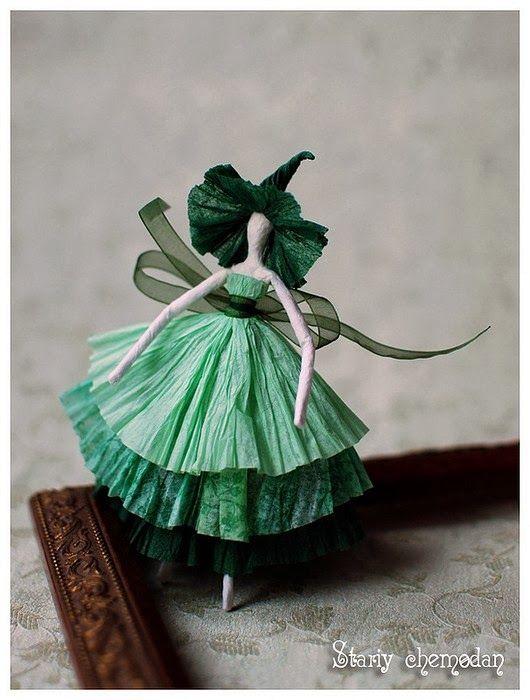 Simplesmente Artesanato: Bailarinas de Papel - passo a passo gráfico