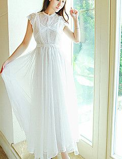 Women's+Fashion+Elegant+Lace+Long+Sun+Dress+–+MXN+$+560.81
