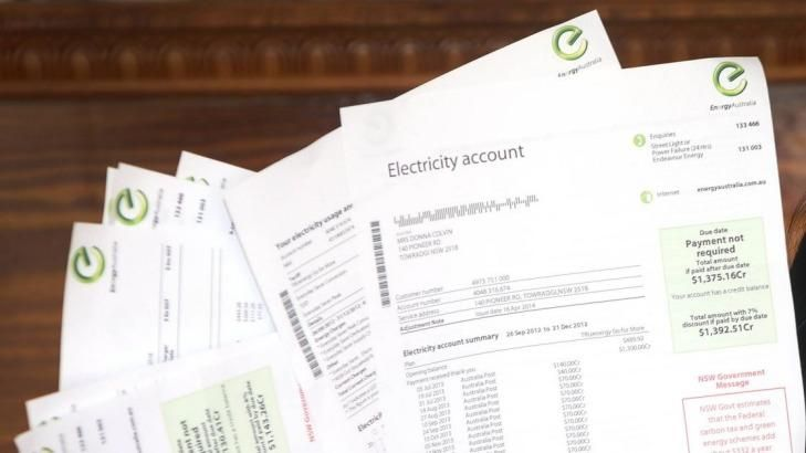 One in three Australian households have missed an electricity bill payment in the past year and one in 10 have skipped three or more, largely because they could not afford to pay, new research shows. As soaring energy prices squeeze family budgets, consultancy firm Ernst and Young found among those who missed a bill, 60 per cent could not afford to pay, 32 per cent had forgotten to pay, and 7 per cent had disputed it.