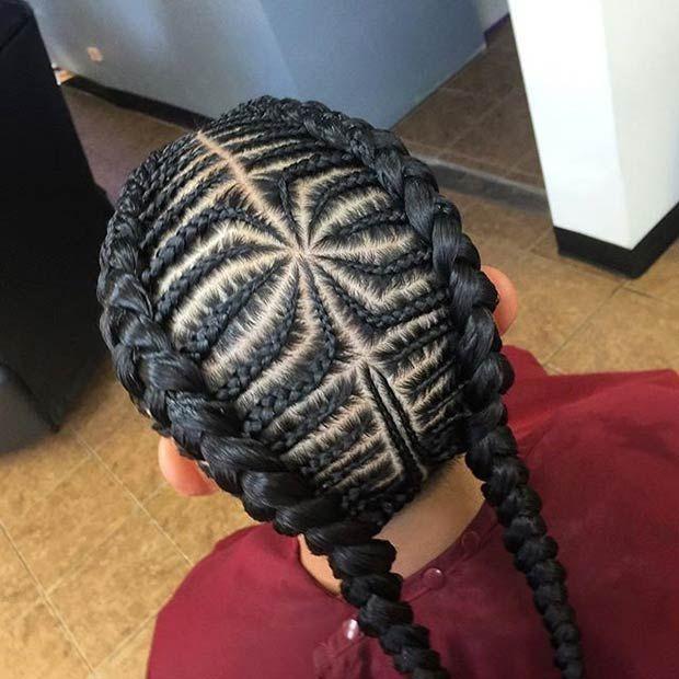 Unique Cornrow Design for Black Women