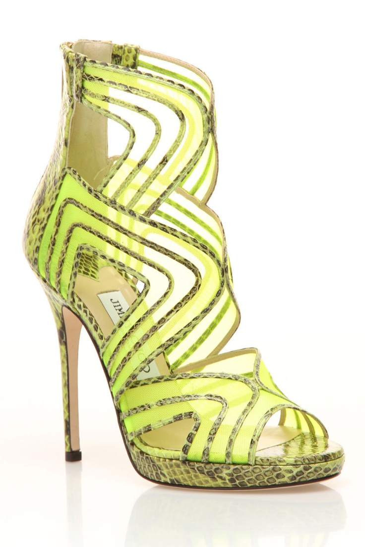 Jimmy Choo Magnum Sandal in green and black