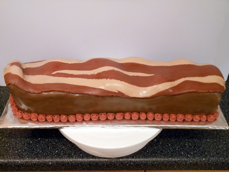 -bacon cake with maple buttercream filling and chocolate buttercream ...