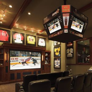 Cool Homes: Hockey-Themed Theater Serves Up Jumbo Fun, by Lisa Montgomery - Electronic House