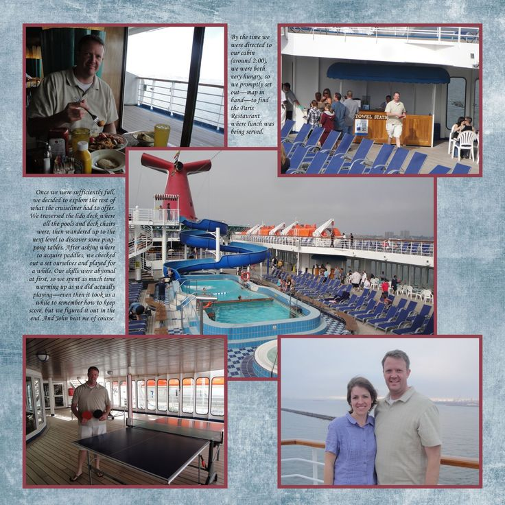 cruise pictures scrapbook pages