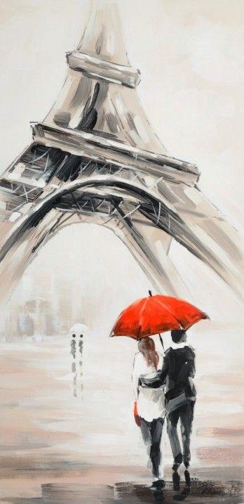 schilderij Parijs Eiffeltoren 50x100