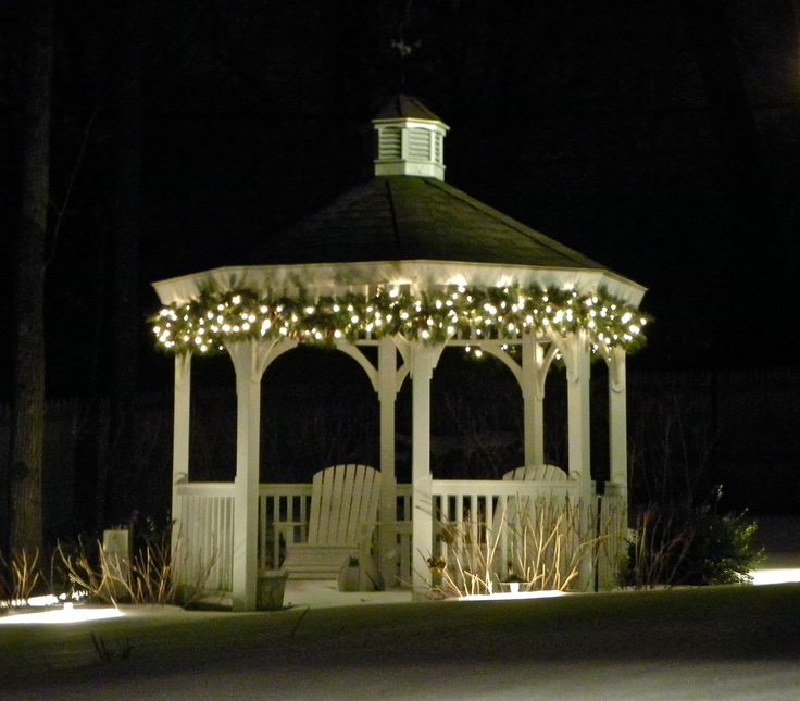 How To Hang String Lights On Gazebo : 25+ best ideas about Gazebo lighting on Pinterest Diy chandelier, Hanging jars and Rustic ...