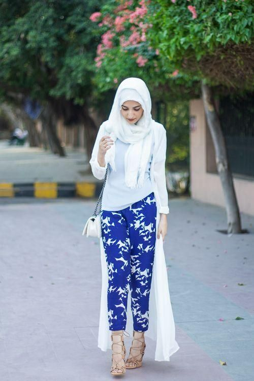 long chiffon white cardigan floor length - hijab spring style