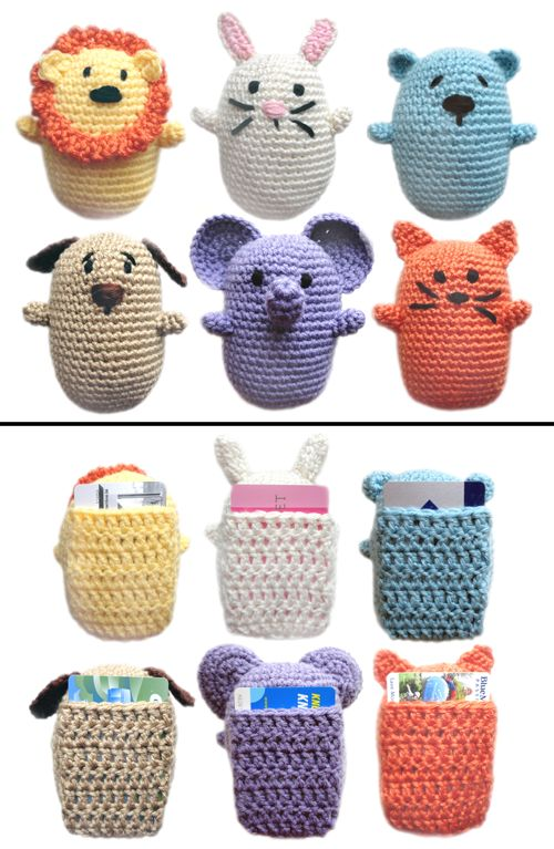 Crochet Pattern: Animal Gift Card Holders