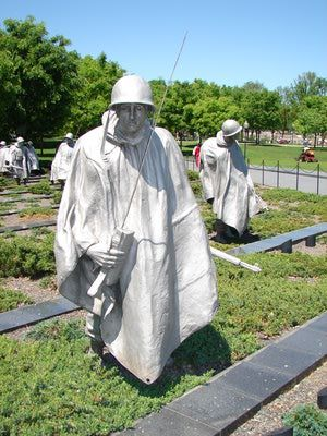 The Korean War Veterans Memorial in Washington, DC was dedicated in 1995 to 1.5 million American men and women who served in the Korean War.