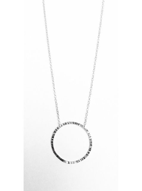 Medium Circle Necklace - Sterling Silver