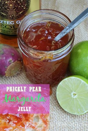 Don't let those prickly pear cactus fruits go to waste on the roadside!  Use the beautiful, deep purple juice to make this out-of-this-world prickly pear jelly AND prickly pear MARGARITA jelly!