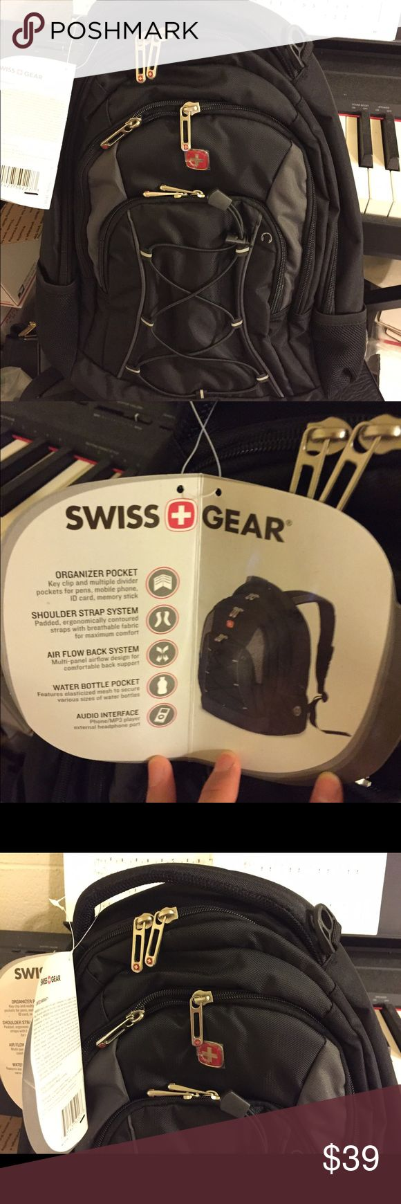 NWT Swiss Gear backpack NWT Swiss Gear backpack, black swiss gear Bags Backpacks